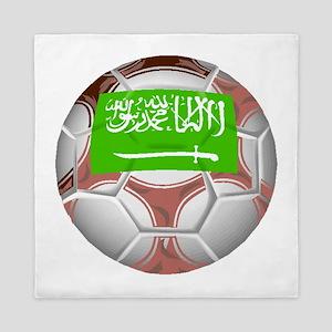 Saudi Arabia Soccer Ball Queen Duvet