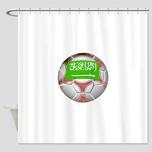 Saudi Arabia Soccer Ball Shower Curtain