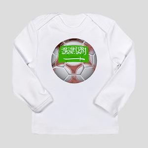 Saudi Arabia Soccer Ball Long Sleeve T-Shirt