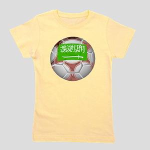 Saudi Arabia Soccer Ball Girl's Tee