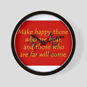 Make Happy Those Who Are Near Wall Clock