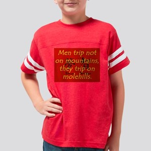 Men Trip Not On Mountains Youth Football Shirt