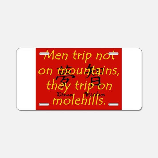 Men Trip Not On Mountains Aluminum License Plate