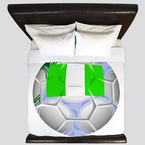 Nigeria Soccer Ball King Duvet