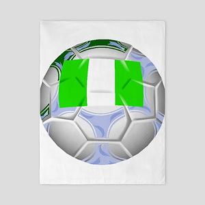 Nigeria Soccer Ball Twin Duvet