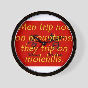 Men Trip Not On Mountains Wall Clock