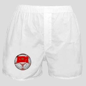 Morocco Soccer Ball Boxer Shorts