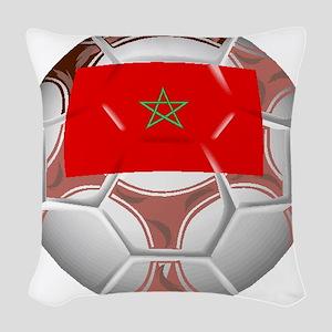 Morocco Soccer Ball Woven Throw Pillow