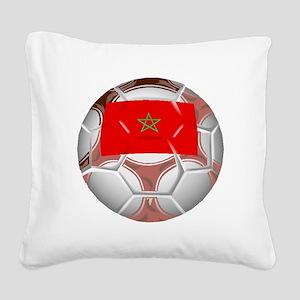 Morocco Soccer Ball Square Canvas Pillow