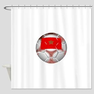 Morocco Soccer Ball Shower Curtain