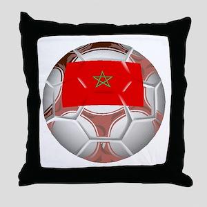 Morocco Soccer Ball Throw Pillow