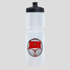 Morocco Soccer Ball Sports Bottle