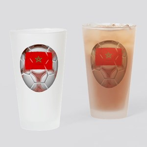 Morocco Soccer Ball Drinking Glass