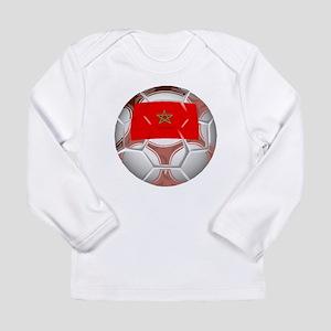 Morocco Soccer Ball Long Sleeve T-Shirt