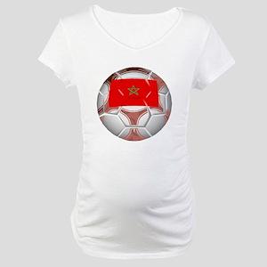 Morocco Soccer Ball Maternity T-Shirt