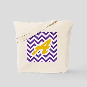 Purple Chevron Dark Gold A Tote Bag