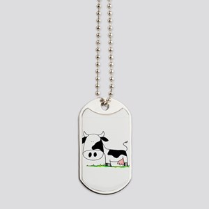 Moo Cow! Dog Tags