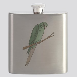 Green Parakeet Flask