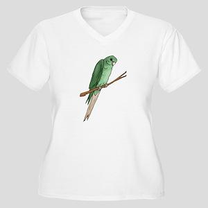 Green Parakeet Plus Size T-Shirt