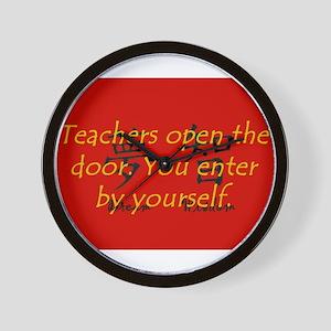 Teachers Open The Door Wall Clock