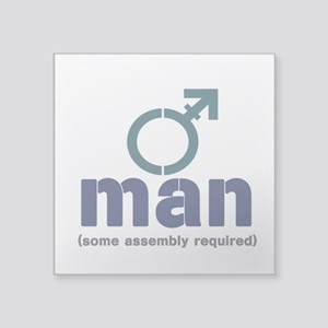 """T-Man Assembly Square Sticker 3"""" x 3"""""""