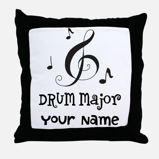 Drum Major Marching Band Throw Pillow