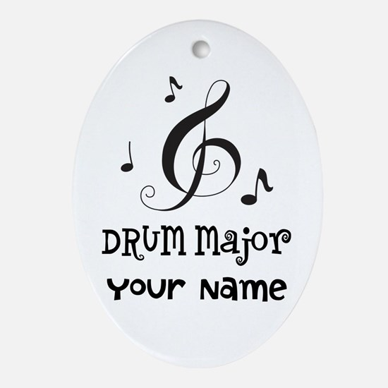 Drum Major Marching Band Ornament (Oval)