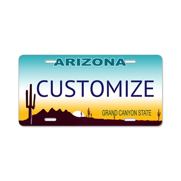 Arizona Custom Aluminum License Plate By Stargazerdesign