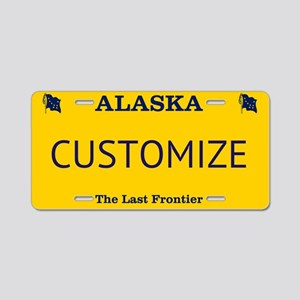 Alaska Custom Aluminum License Plate