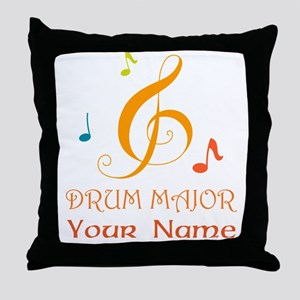 Personalized Drum Major Band Throw Pillow