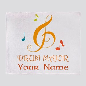 Personalized Drum Major Band Throw Blanket