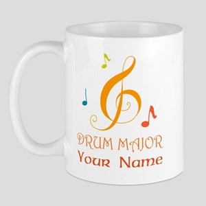 Personalized Drum Major Band Mugs