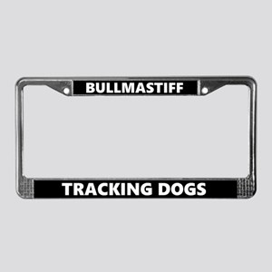 Bullmastiff Tracking Dog License Plate Frame
