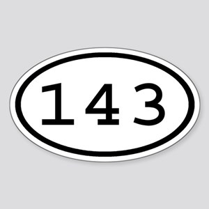 143 Oval Oval Sticker
