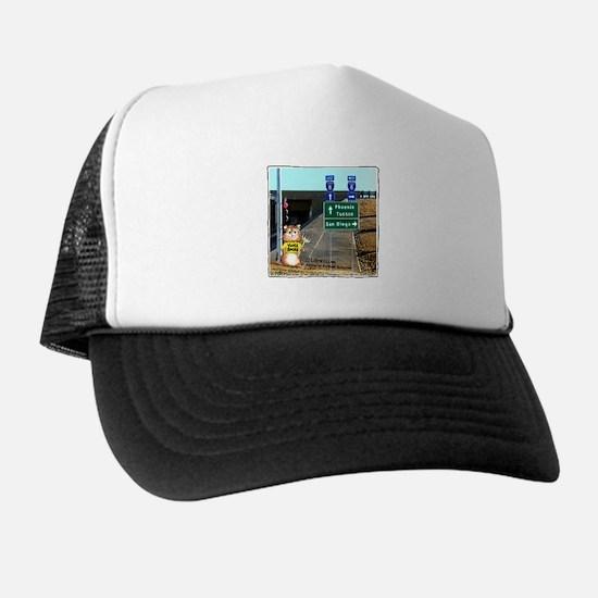 Abrahamster YumaRocks Cartoon Trucker Hat
