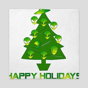 Alien Christmas Tree Queen Duvet