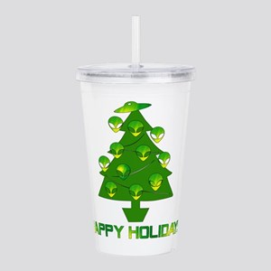 Alien Christmas Tree Acrylic Double-wall Tumbler