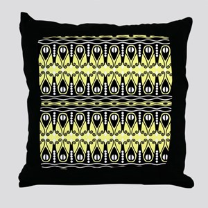 Butter and Black Throw Pillow