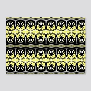 Butter and Black 5'x7'Area Rug