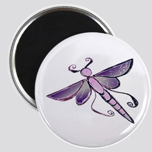 Purple Dragon Fly Magnets