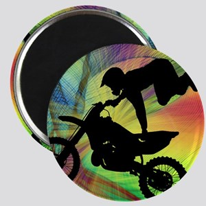 Motocross in Psychedelic Spider Web Magnets