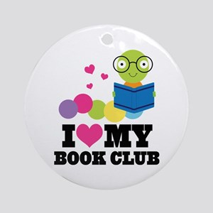 Book Club Bookworm Ornament (Round)