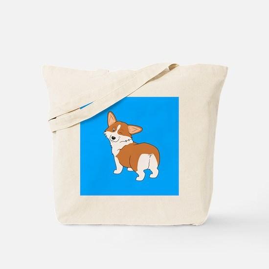 Winking Corgi Tote Bag