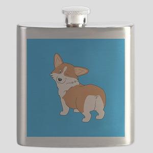 Winking Corgi Flask