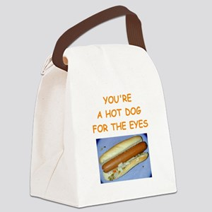 hot dog Canvas Lunch Bag