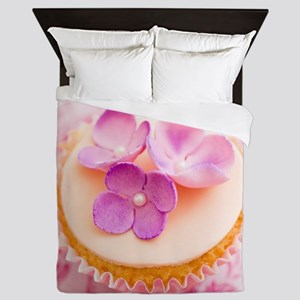 Decorated cupcake Queen Duvet