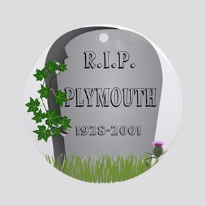 R.I.P. Plymouth Ornament (Round)