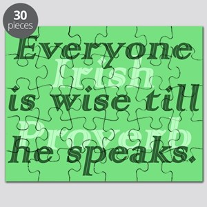 Everyone is wise till he speaks Puzzle