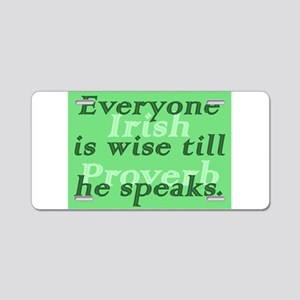Everyone is wise till he speaks Aluminum License P
