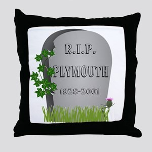 R.I.P. Plymouth Throw Pillow